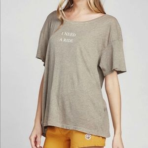 Wildfox Olive Quote Graphic Tee Shirt Size Small